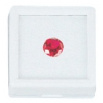"White Glass Top Gem Box (Cotton): 1.5"" x 1.5"", Pack of 12"