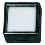 "Black Glass Top Gem Box (Cotton): 1.1"" x 1.1"", Pack of 12"