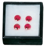 "Black Glass Top Gem Box (Cotton): 2"" x 2"", Pack of 12"