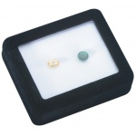 "Glass Top Gem Box 3.5"" x 3.5"" (Foam): White"