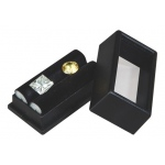 "Black Glass Top Gem Box: 2"" x 1"", Pack of 12"