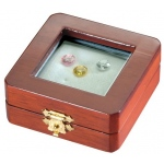 "Reversible Gem Box 2.75"" x 2.75"" Square: Cherry/White"