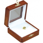 "Reversible Gem Box 2.75"" x 2.75"" Square: Mahogany/White"