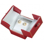 2-Door Earring Box: Red