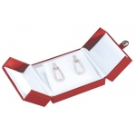 2-Door Flap Earring/Pendant Box: Red