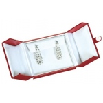 2-Door Drop Earrings Box: Red