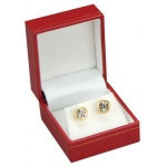 Earring Box: Red, Case of 144