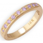 14k Yellow Gold Amethyst Toe Ring: Size 3.75