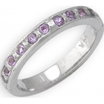 14k White Gold Amethyst Toe Ring: Size 2.50