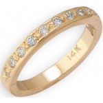 14k Yellow Gold Eternity Diamond Toe Ring: Size 2.25