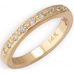 14k Yellow Gold Diamond Toe Ring: Size 3.25