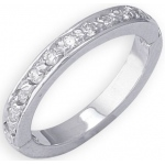 14k White Gold Diamond Toe Ring: Size 2.0