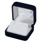 Velvet Earring Box: Blue