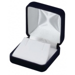 Velvet Earring/Pendant Box: Blue