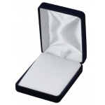 Velvet Large Earring/Pendant Box: Blue
