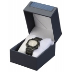Leatherette Watch Box: Blue