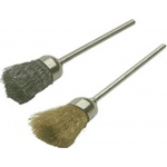 Wire Cup Brushes: Steel Metal, Pack of 12