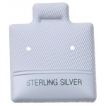 "1"" x 1"" Ear Puff Pad Sterling Silver: Gray"