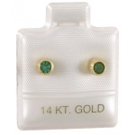 "1"" x 1"" Ear Puff Pads 14Kt: White, Box of 200"
