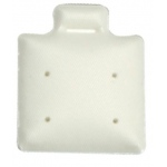"1"" x 1"" 4-Hole Ear Puff Pads: White, Box of 200"