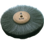 Steel Wheel Brush: 4'' Diameter,  4 Row