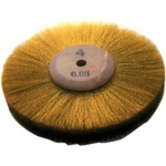 Brass Wheel Brush: 3'' Diameter, 3 Rows