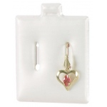 "1.5"" x 1.75"" Kidney Earrings Puff Pads: Box of 200"