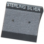 "1"" x 1"" Flip Hang Cards: Gray, Sterling Silver, Pack of 200"