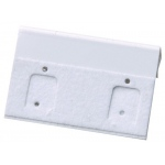 "1.5"" x 1"" Clip Hang Cards: White, Pack of 200"