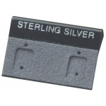 "1.5"" x 1"" Clip Hang Cards: Gray, Sterling Silver, Pack of 200"
