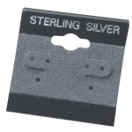 "1.5"" x 1.5"" Hang Cards: Gray, Sterling Silver, Pack of 200"
