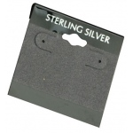 "2"" x 2"" Hang Cards: Gray, Sterling Silver, Pack of 200"