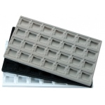 28 Compartments Flocked Insert: White