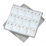 White 12-Earring Puff Pads