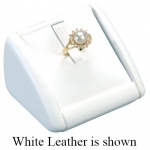 1-Ring Clip Display: Off White Leather