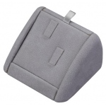 2-Ring Clip Display: Gray Suede