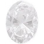 AAA Oval Cubic Zirconia: 10.0 x 8.0mm