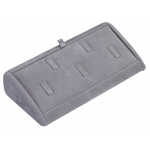 5-Ring Clip Angled Display: Gray Suede