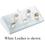 5-Ring Clip Angled Display: Off White Leather