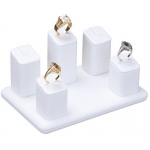 5-Ring Pedestal: White Leather
