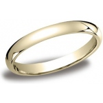 14k Yellow 3mm Comfort Fit Band: Size 6.5