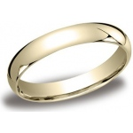 14k Yellow 4mm Comfort Fit Band: Size 11.5