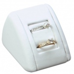 2-Ring Slot Display: White Leather