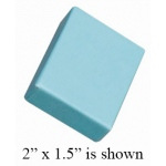 "Cotton Filled Blue Box: 2.6"" x 1.6"""