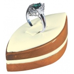 Marquise Ring Clip Display: Cream/Beechwood