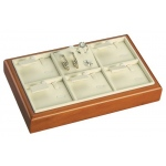 6-Set Ring, Earring & Pendant Tray: Cream/Beechwood