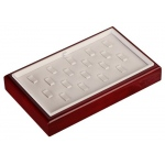 18-Ring Clip Tray: White/Cherry