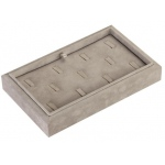 "11 Ring Clip Tray: Gray Suede, 9"" x 5.5"""