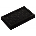 18-Ring Clip Tray: Black Suede