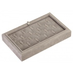 18-Ring Clip Tray: Gray Suede